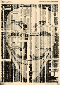Blacklistes page of the financial times germany, generating a guy fawkes mask-symbol for the occupy movement.